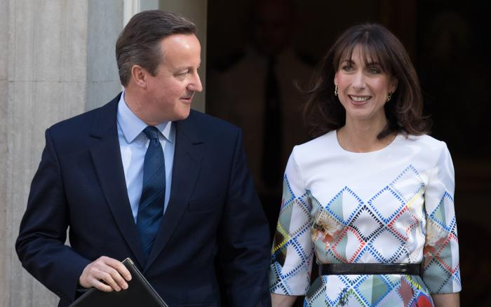 British Prime Minister David Cameron and wife Samantha outside 10 Downing St in London after he announced his decision to step down as leader. Picture: Matt Cardy/Getty Images