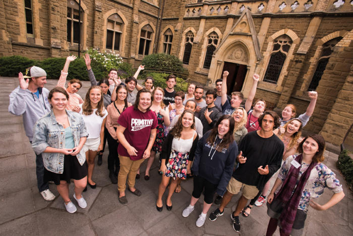 The University of Melbourne's 2015 cohort of first year Indigenous students. Picture: Peter Casamento