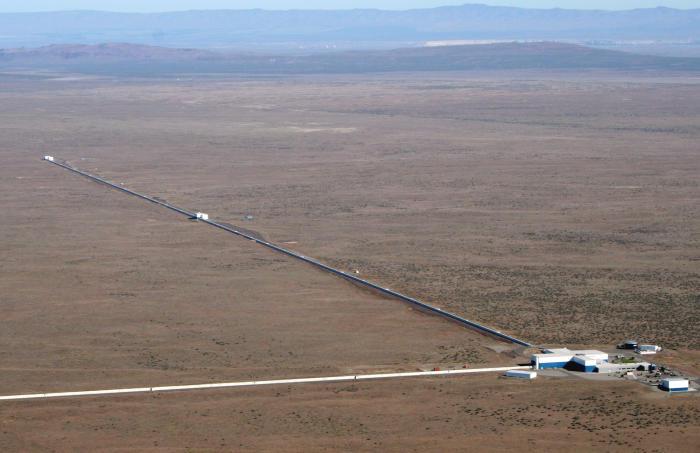 LIGO interferometer at Hanford, Washington. Picture: LIGO Laboratory/Corey Gray