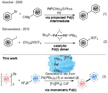 Oxidative cross-coupling of nucleophiles via Pd(I), and other tales
