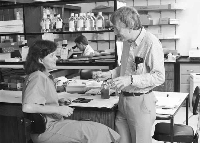 Professor Doherty at St Jude Children's Research Hospital, Memphis, in the early 90s.