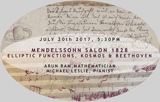 Mendelssohn Salon 1828: Elliptic Functions, Kosmos and Beethoven
