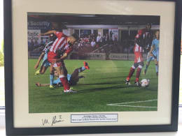 Framed and Signed Print of Matty Pearson's late winner against Burnley