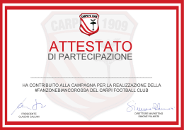 OFFICIAL CAMPAIGN CERTIFICATE