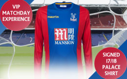 Prize Draw! VIP Matchday Experience for 2 + Signed 17/18 CPFC Shirt