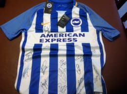 CHANCE TO WIN: Signed Brighton & Hove Albion FC Shirt