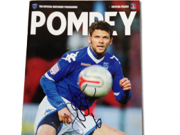 2011 Pompey vs Palace programme signed by Hermann Hreidarsson