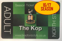 Your chance to win - Bradford City 2016/17 Season Ticket