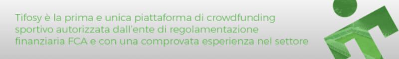 Tifosy é la prima e unica piattaforma di crowdfunding sportivo autorizzata dall'ente di regolamentazione finanziaria FCA e con una comprovata esperienza nel settore