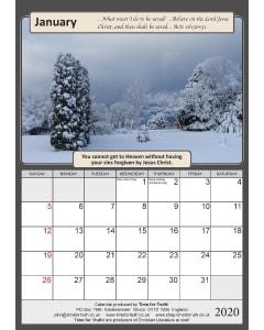TfT! 2020 Gospel Calendar January
