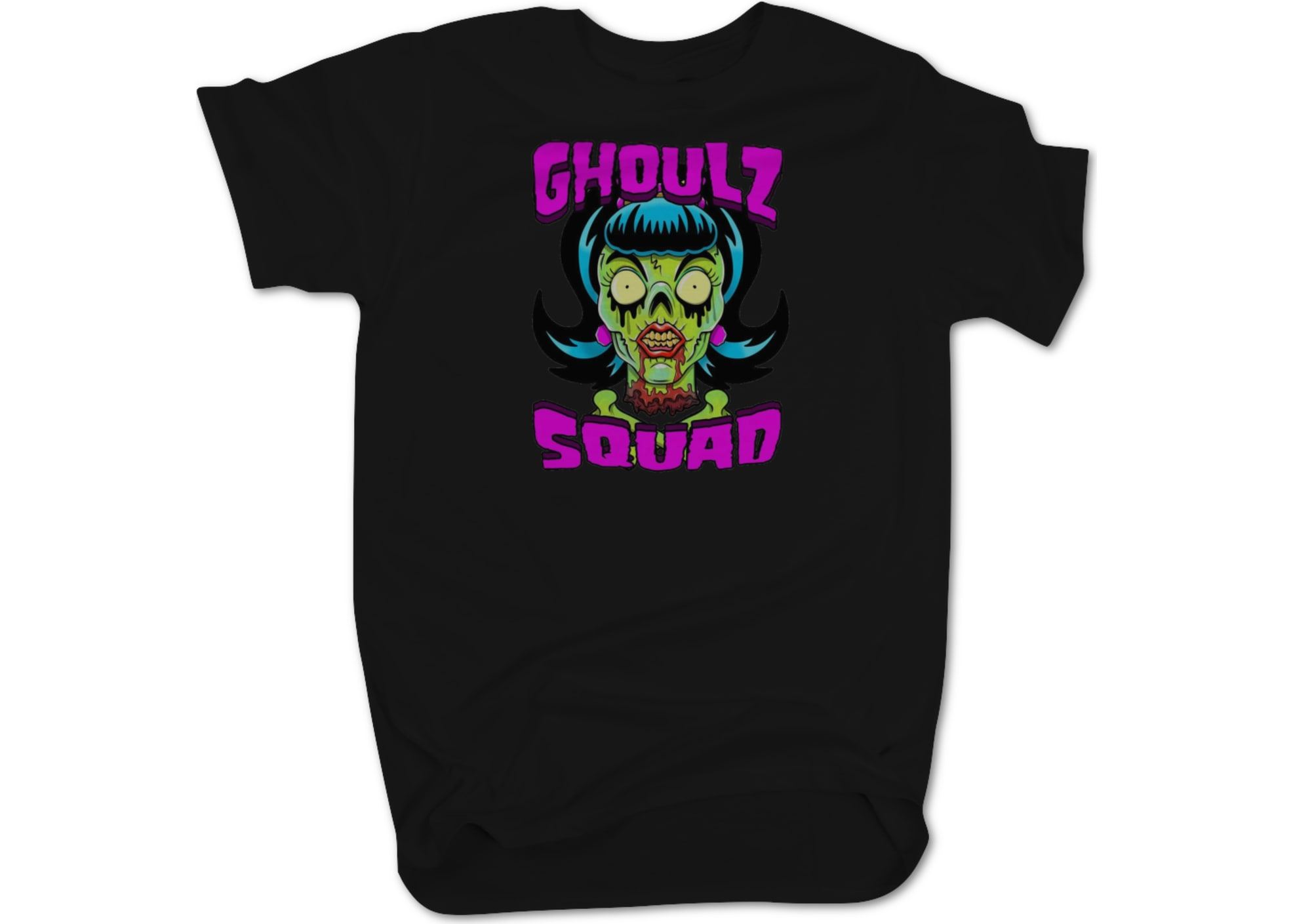 Ghozt tha dmented ghozt female fan shirt  black  1595802684