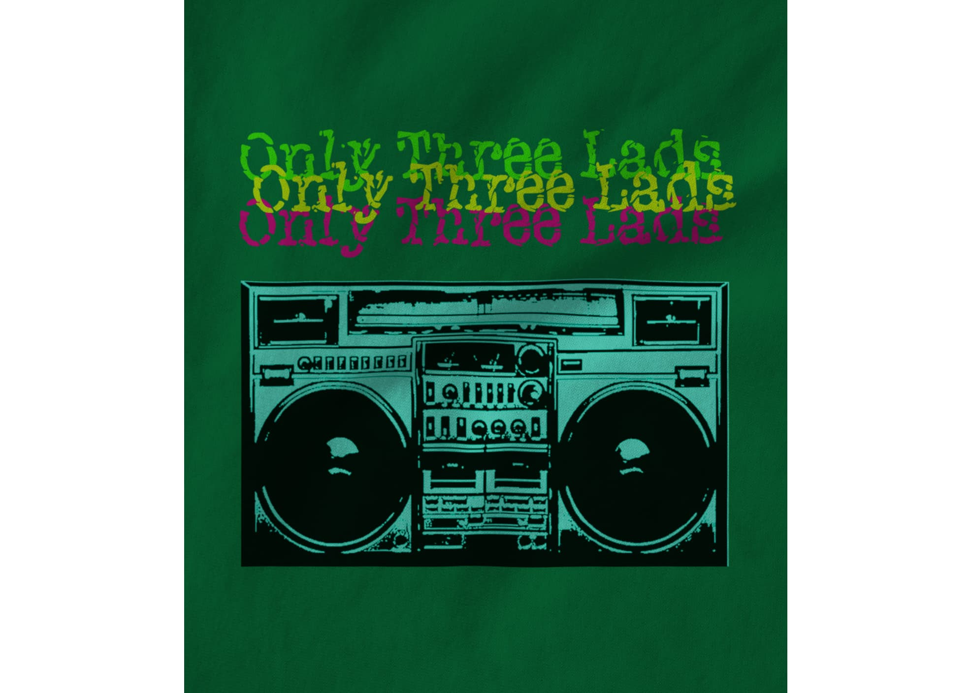 Only three lads o3l   boombox  green  1581058370