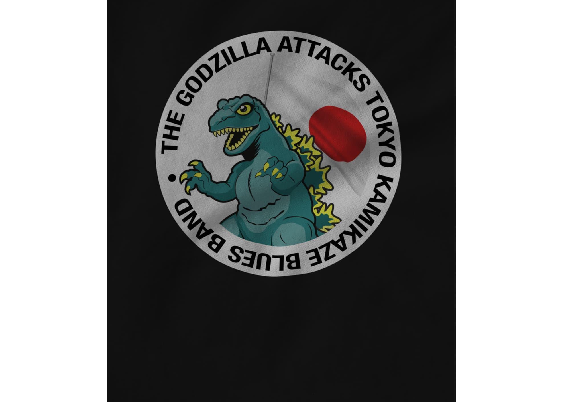 The godzilla attacks tokyo kamikaze blues band  godzilla logo shirt 1601408803