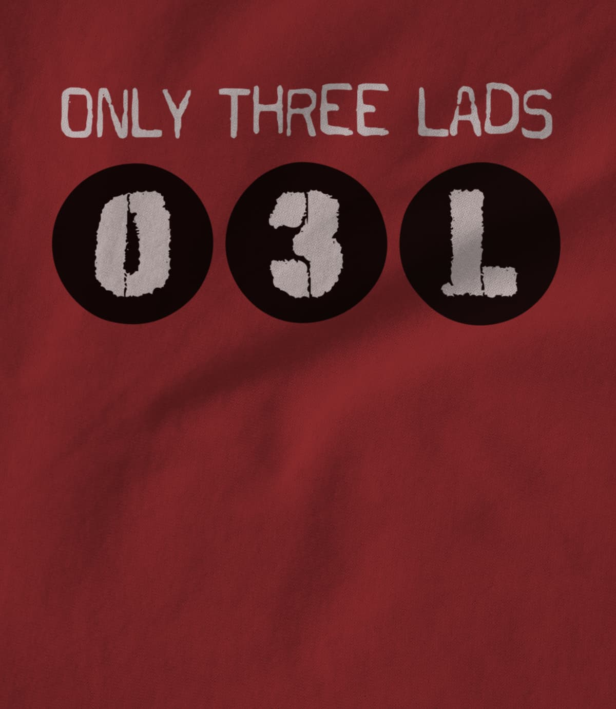 Only three lads o3l podcast   logo design  cardinal red  1579509960