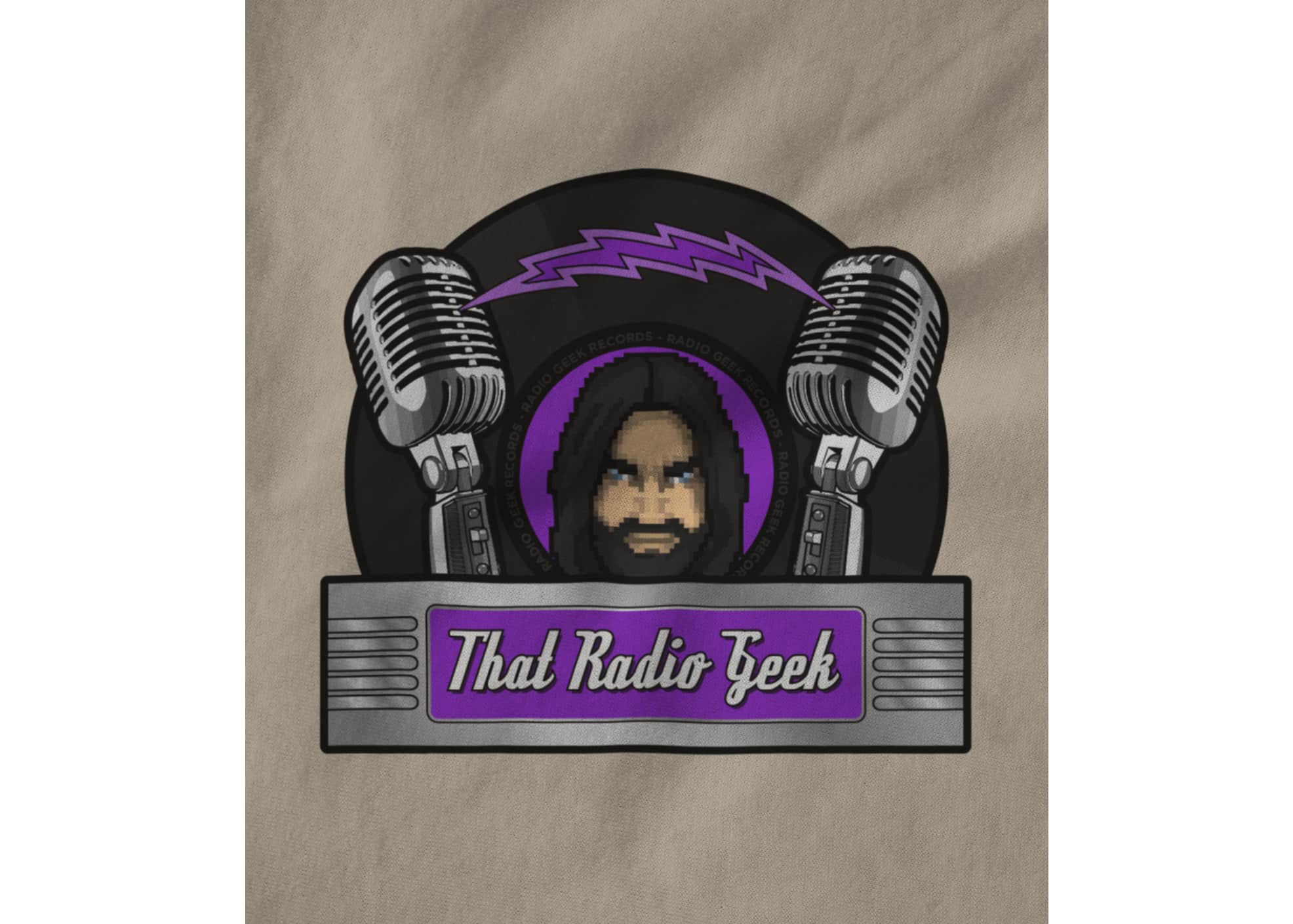 Thatradiogeek logo on creme 1615477906