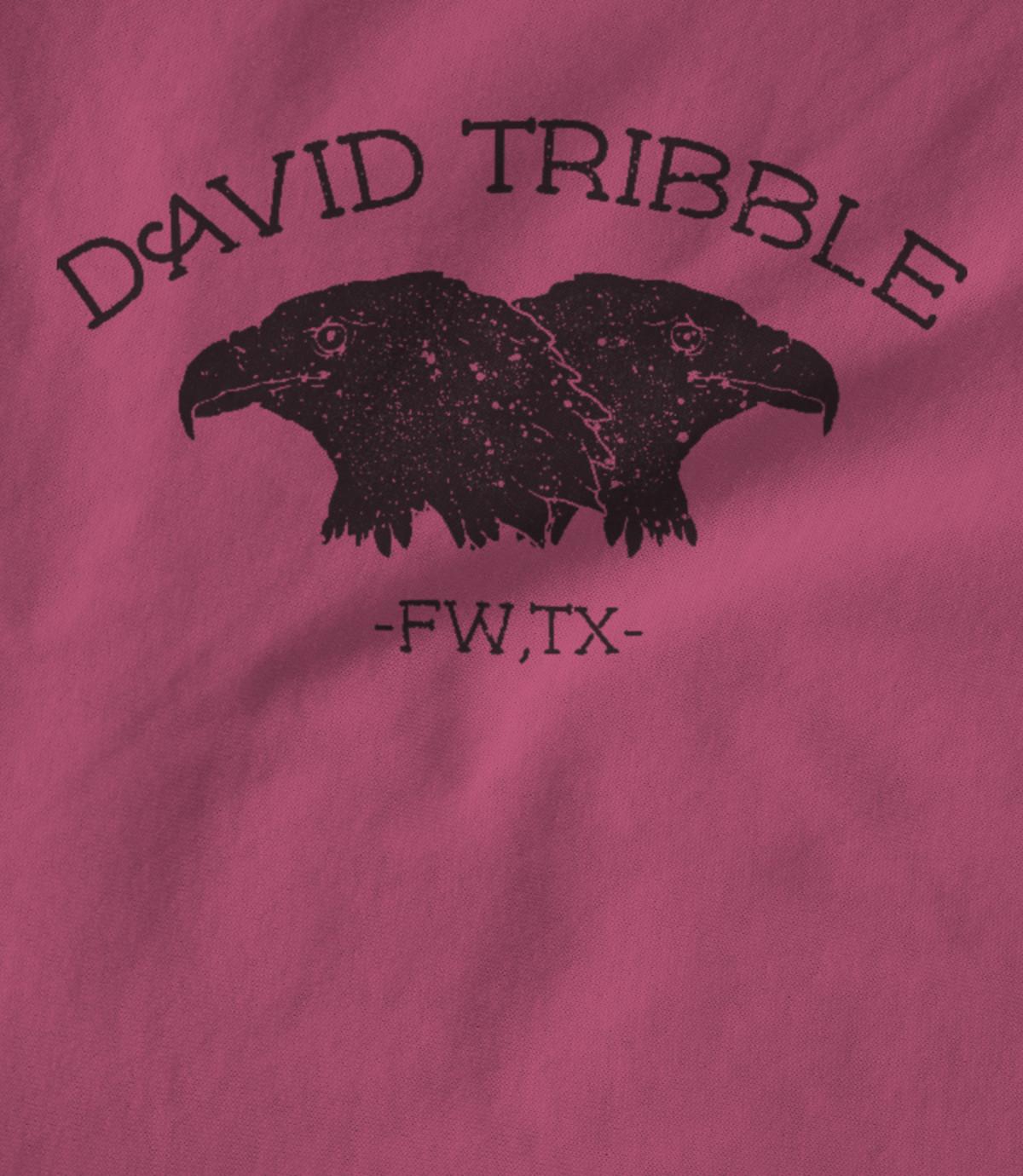 David tribble pink   crow logo t shirt 1541253498