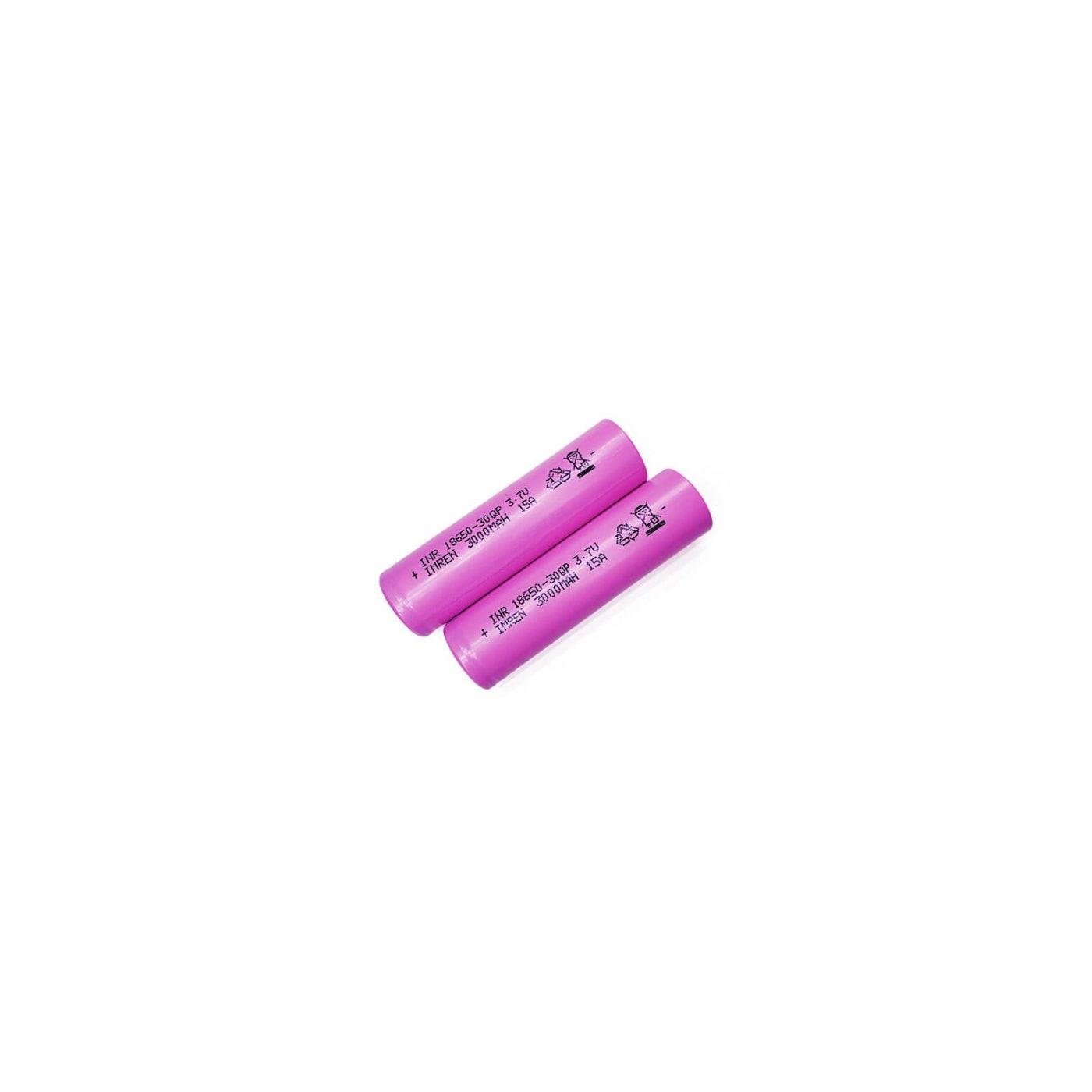 IMREN 30Q 15A 18650 3000 MAH - 2 Pack