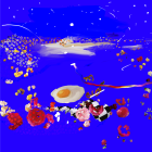 Petra Cortright, Void Mastery / Blank Control (egg2), 2011, Giclée pigment print on canvas, 39 x 39 x 1.6 in. (99 x 99 x 4 cm.,) PC_FP2861