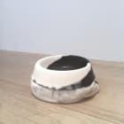 Cassie Raihl, SQUEAKER, 2013, wax, towel, plaster, leash, squeaker, 6 × 10 × 10 in.