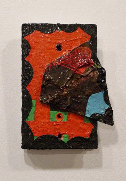 """""""Pig Meat"""" Oil on Book- 5"""" x 8"""""""