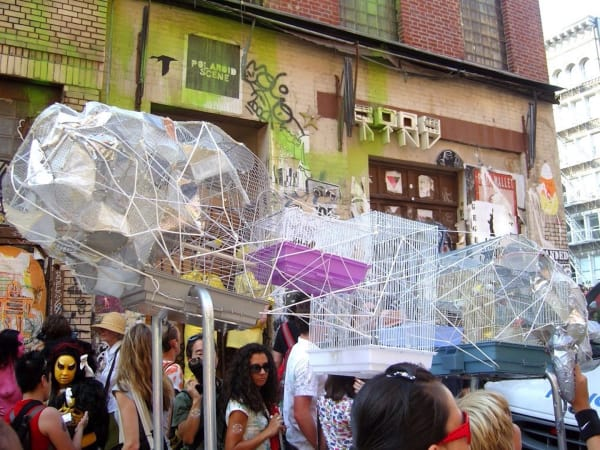 at the Deitch Projects / Creative Time Art Parade in NYC in October 2007.