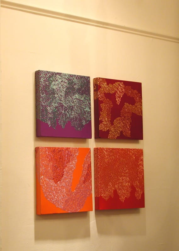 """Four 12""""x12"""" Squiggle Pieces"""