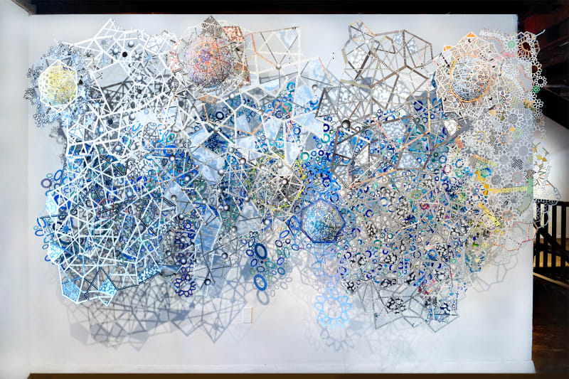 Blue Amendment, From the Exhibition, Transformed, Paper in Dimension, the Hunterdon Art Museum
