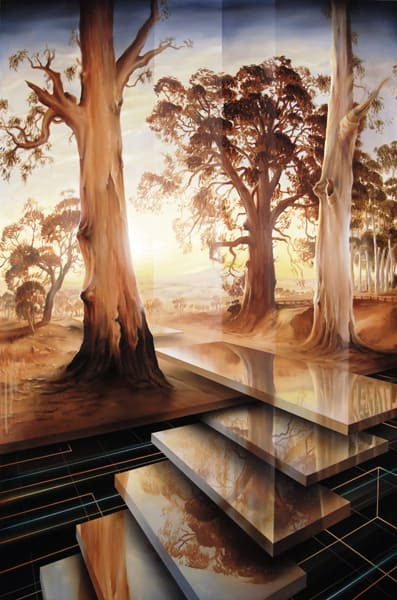 Ascending Into The Light - After Hans Heysen