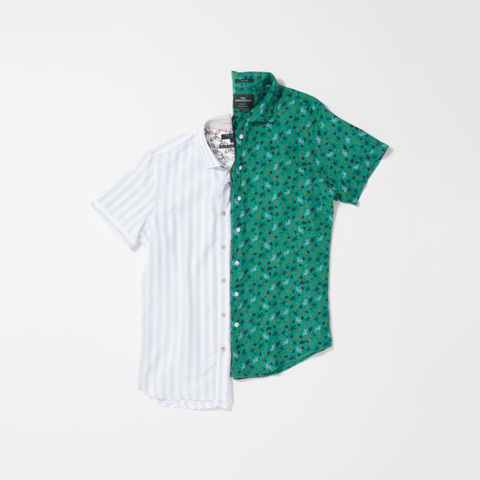 Short-sleeve button-downs for men