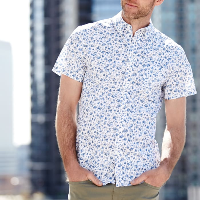 Short Sleeve Button Down Shirt Square