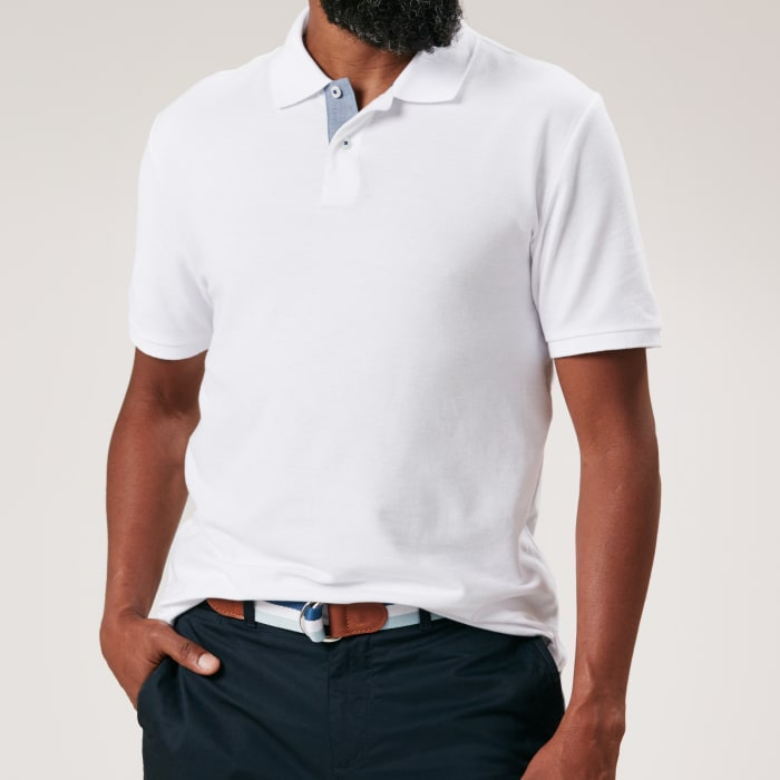 Original Penguin White Polo Square