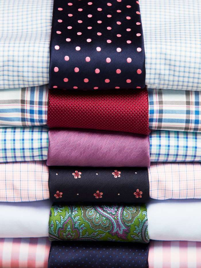 Shirt and tie matching combinations