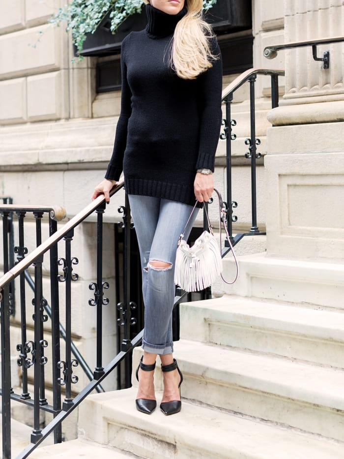 Women's Looks–Sweater Dress with Pants Feature Photo
