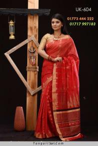 Soft Cotton Tangail Saree-UK-604