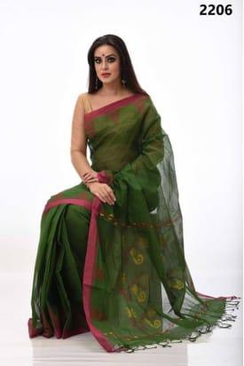 pure Cotton Tangail Saree-TS-2206
