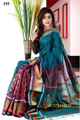Soft Cotton Tangail Saree-TS-255