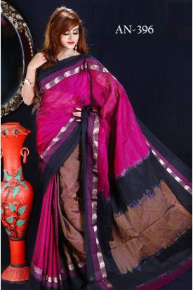 Soft Cotton Tangail Saree-AN-396
