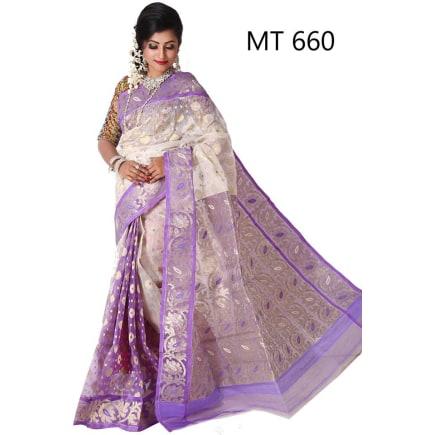 Soft JAMDANI Sari-MT-660