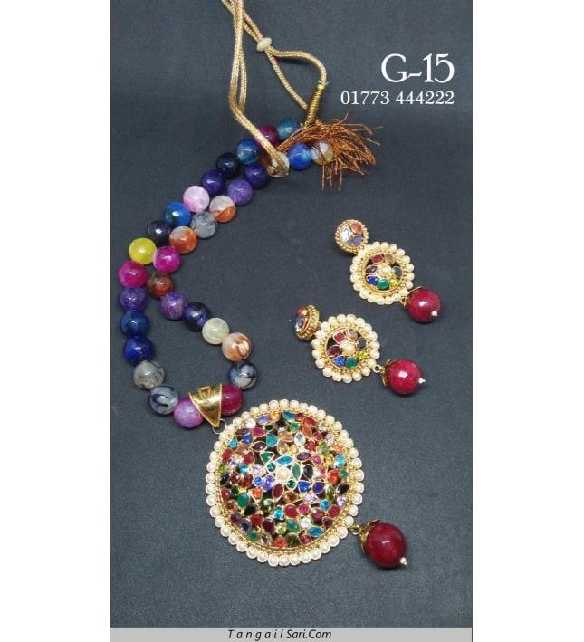 Joypuri Design Gold Plated Necklace-G-15