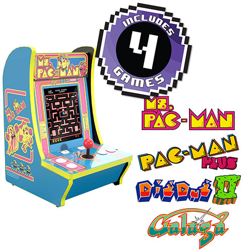 Ms. PAC-MAN Counter-cade, 4 Games in 1, Arcade1UP (815221023031)
