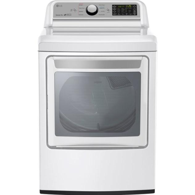 LG 7.3 Cu. Ft. Super Capacity Gas Dryer with Sensor Dry - DLG7201WE