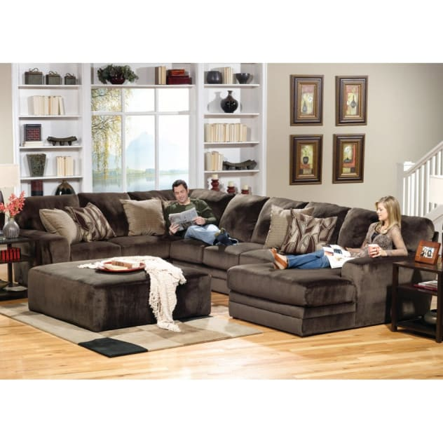 Shown as Collection - Armless Sofa Piece and RSF Facing Chaise Piece Sold Separately