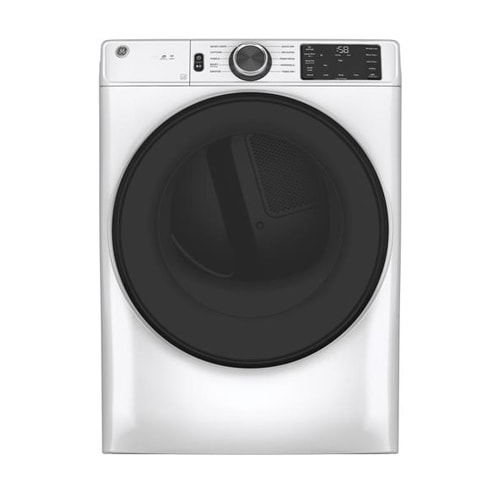GE® 7.8 cu. ft. Smart Front Load Electric Dryer with Sanitize Cycle - GFD55ESSNWW