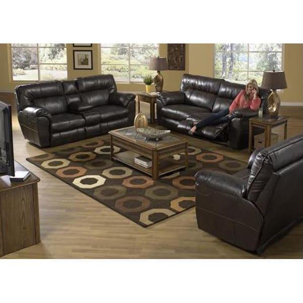 Nobel Living Room - Reclining Sofa & Loveseat - Power - 6404