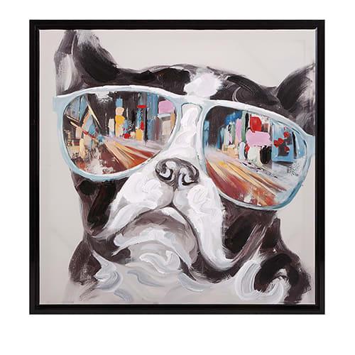 Youth City Shades Dog Framed Canvas - 61254