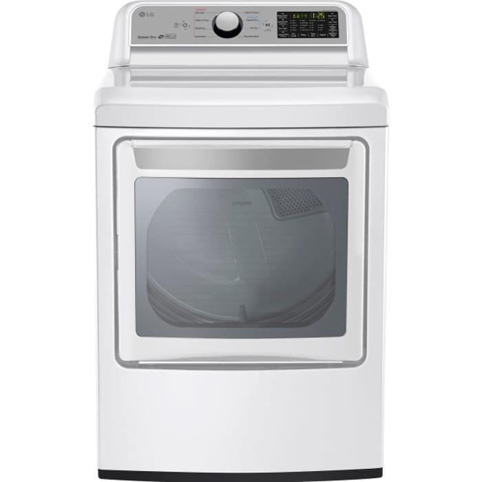 LG 7.3 Cu. Ft. Super Capacity Gas Dryer with Sensor Dry (DLG7201WE)