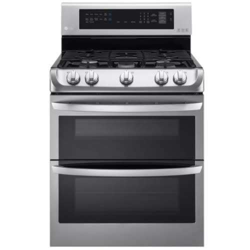 LG 6.9 Cu. Ft. Gas Double Oven Range with ProBake Convection® and EasyClean® - LDG4313ST