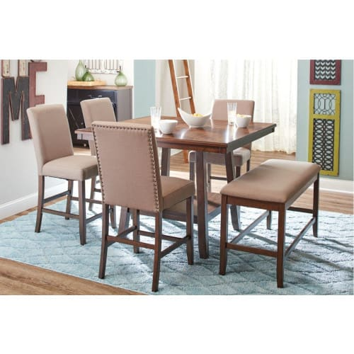 Portland 5pc Counter Dining (Table + 4 Chairs) - PORTLAND5PCCTR