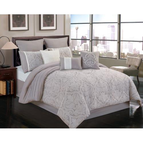 Warner 10 Piece Comforter Set - King - 80708