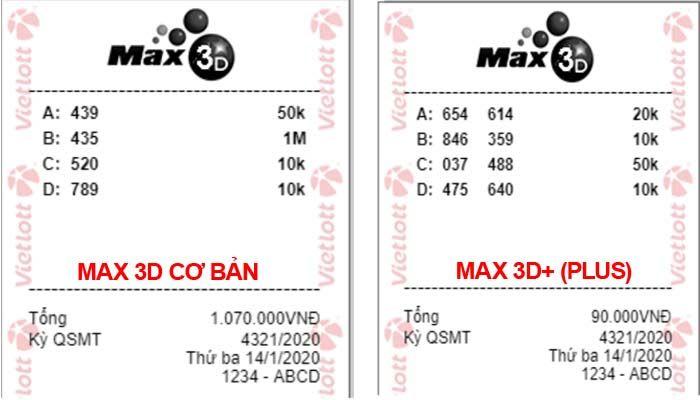 cách dò vé số Vietlott Max 3D